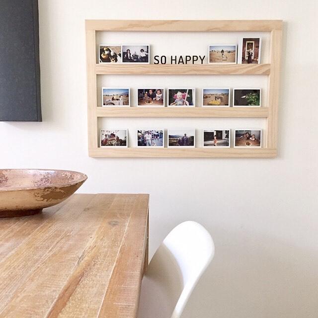 Handmade Wood Photo Display